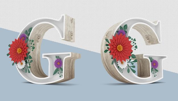 Деревянное письмо с красочным цветочным декором