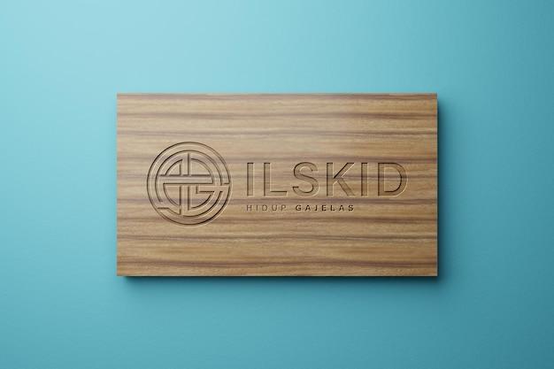 Wood log mockup elegant