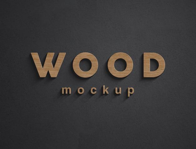 Деревянный макет логотипа стены