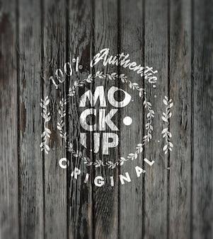 Wood mockup design