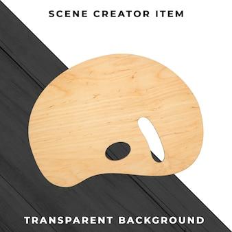 Wood palette object transparent psd