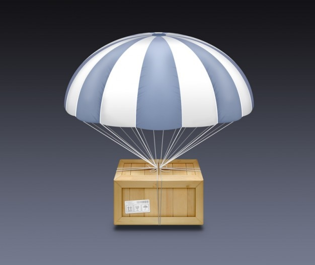 Wood parachutes with stripes