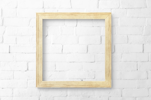 Wood picture frame mockup
