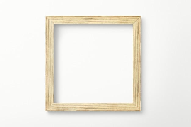 Wood picture frame mockup