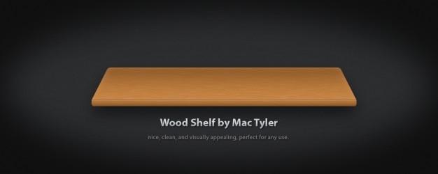 Wood shelf psd