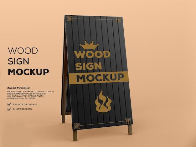 Wood sign mockup Premium Psd