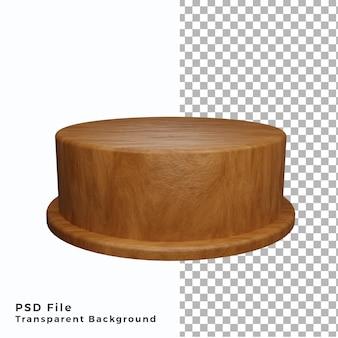 Wood single podium pedestal stand high quality psd files