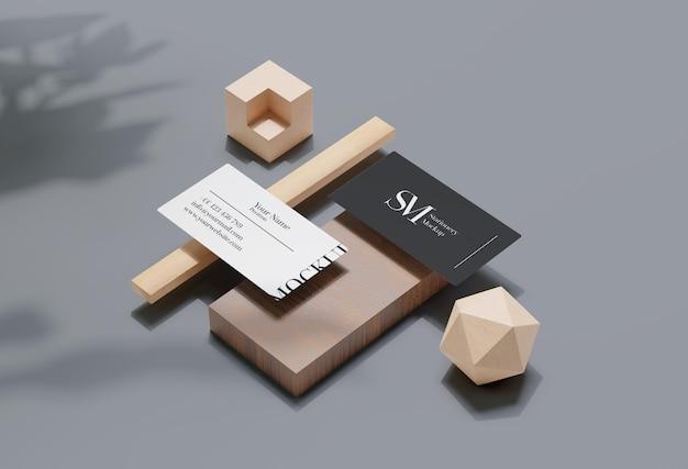 Wood stationary levitation mockup design