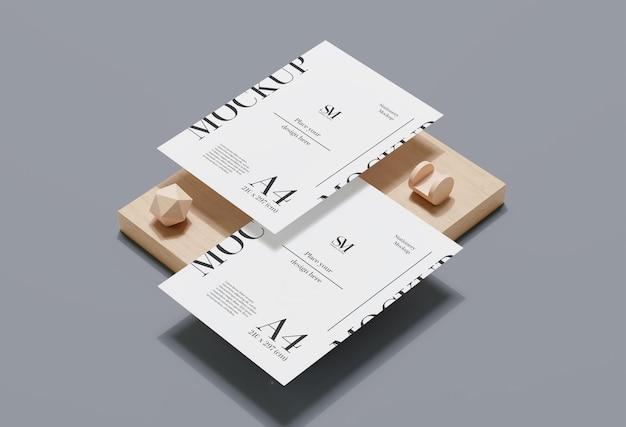 나무 고정 공중 부양 모형 디자인
