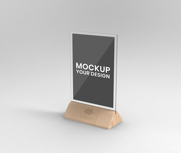 Wood table expositor