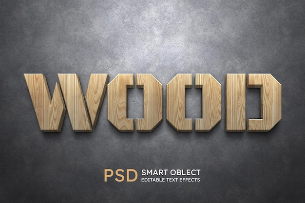 Wood text style effect