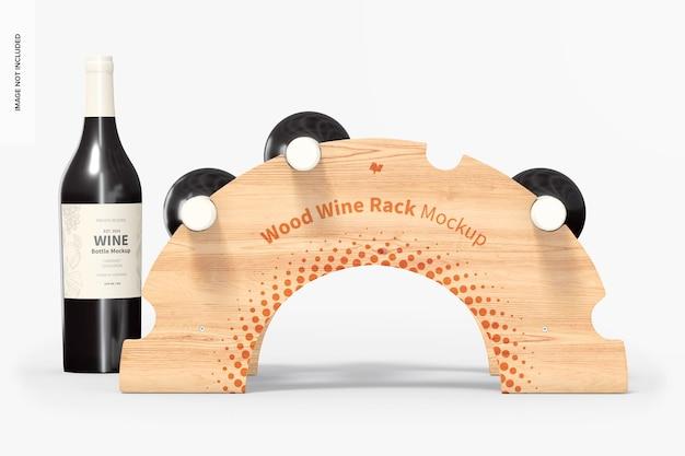 Деревянный макет винной стойки, вид спереди
