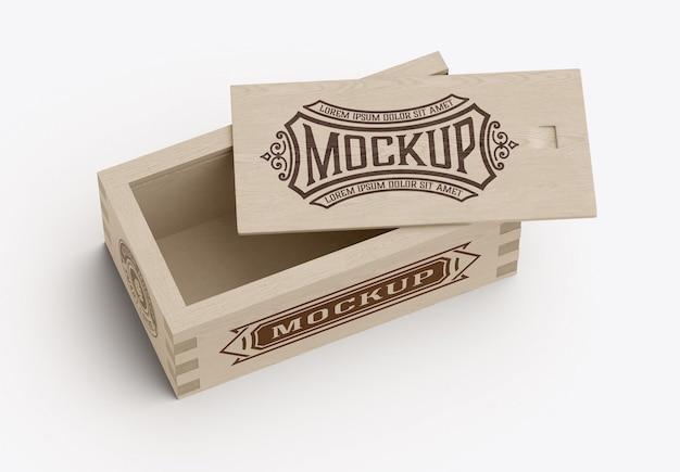 Wooden box for bottles