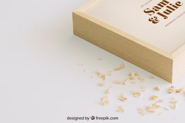Деревянный макет для свадьбы