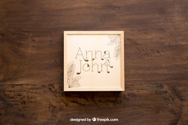 Макет деревянного ящика
