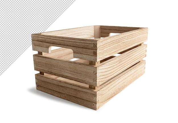 고립 된 나무 상자 렌더링 디자인