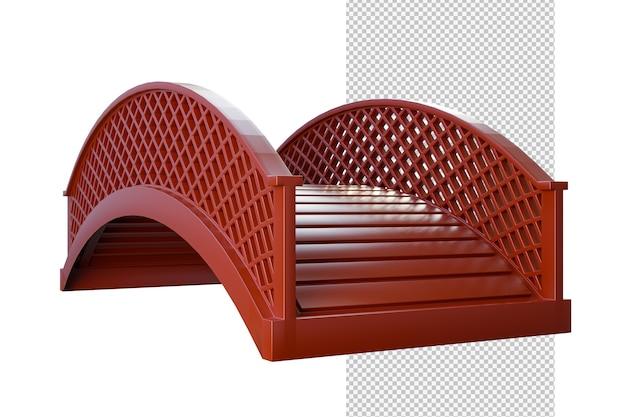 木製の橋の孤立したイラスト