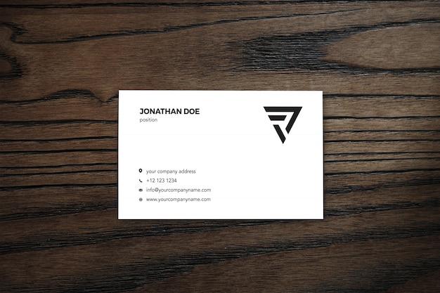Wooden businesscard mockup