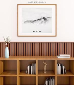 Деревянная кладовая с горизонтальной рамой для макета