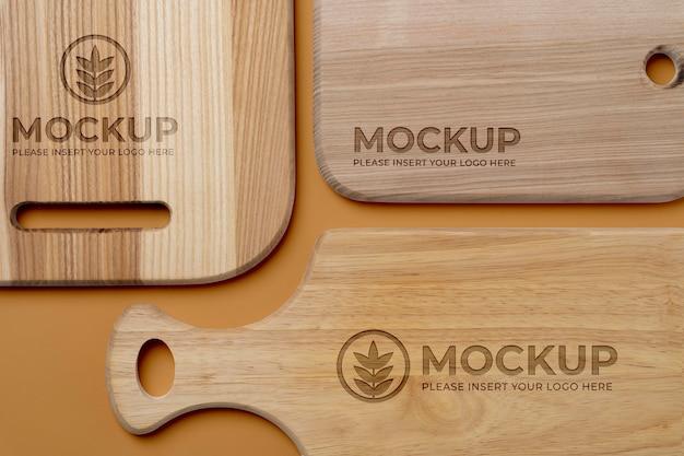 Дизайн макета деревянной разделочной доски
