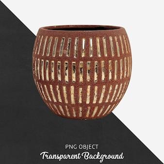 Wooden decorative vase