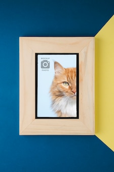Wooden frame for pictures