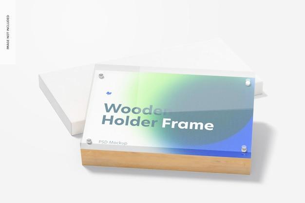 Деревянный макет рамки держателя этикеток, наклонный