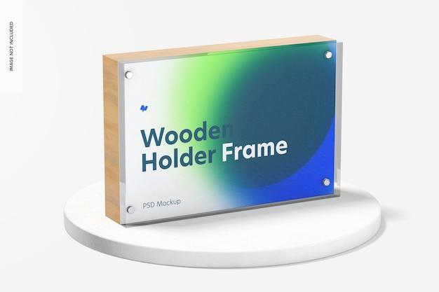 Деревянный макет рамки держателя этикеток