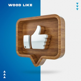 Wooden like bubble in 3d rendering isolated Premium Psd