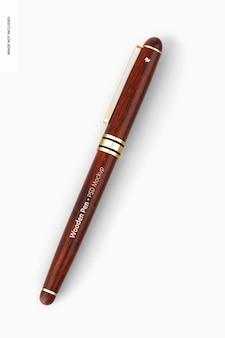 木製のペンのモックアップ
