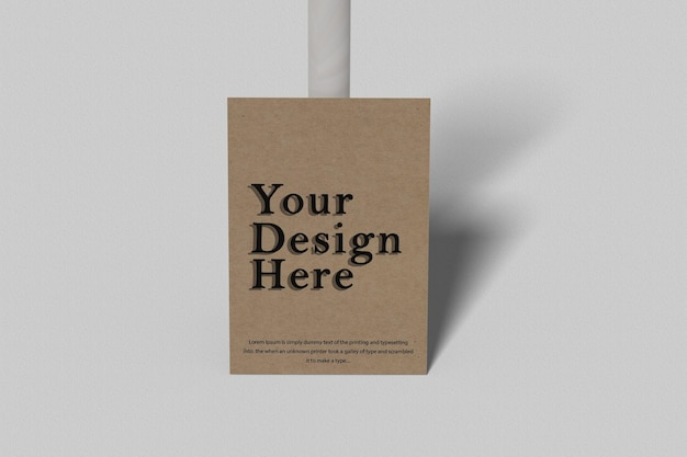 Wooden pole and flyer mockup