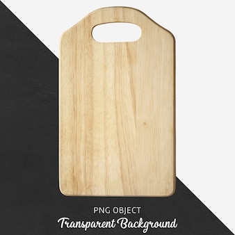 Wooden serving board or cutting board on transparent background