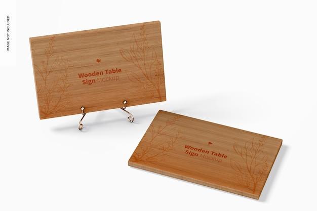 Макет знаков деревянного стола