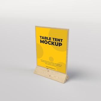 レストランと広告の上面図のための木製のテーブルテントの正方形のビュー