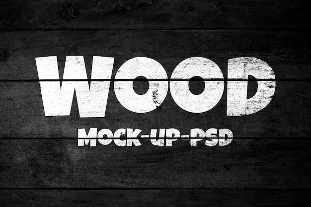 Mockup di struttura in legno