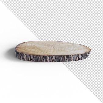 分離された木製トレイ
