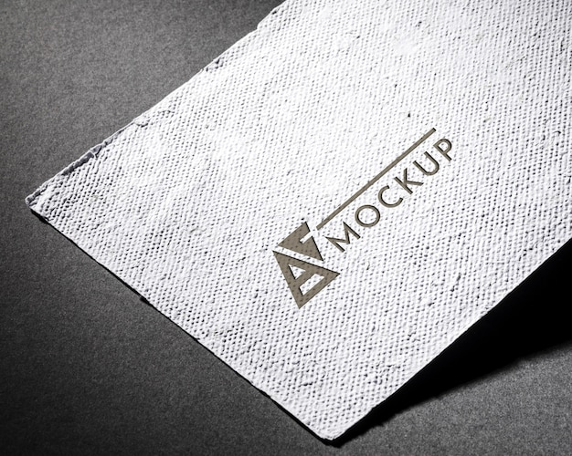 Word and design business card mock-up