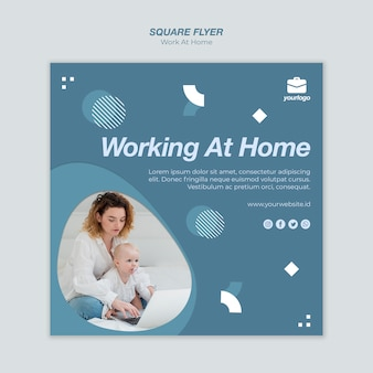 Work from home flyer template