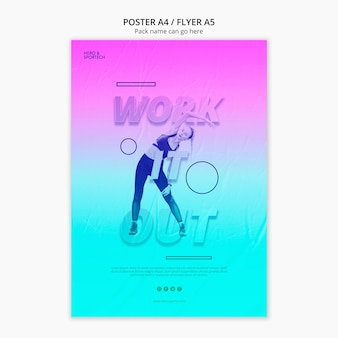 Work it out workout poster template