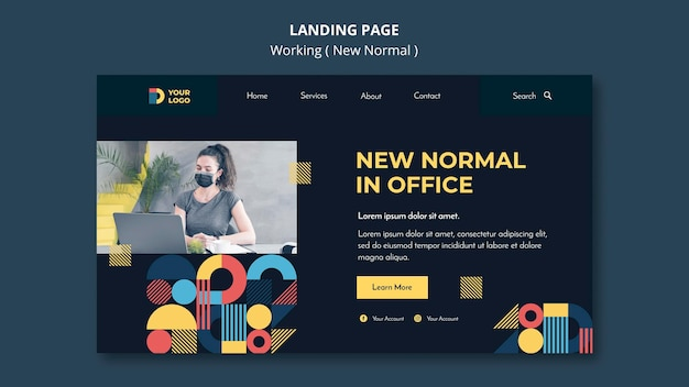 Working in the new normal way landing page template