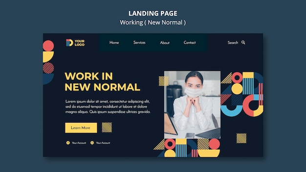 Working in the new normal way landing page