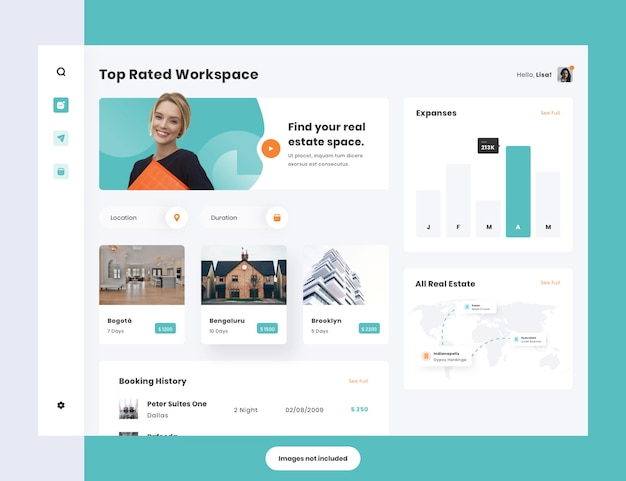 Working space dashboard template