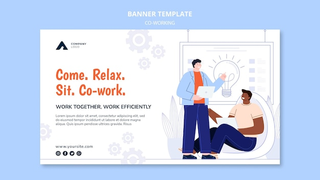 Working together banner template