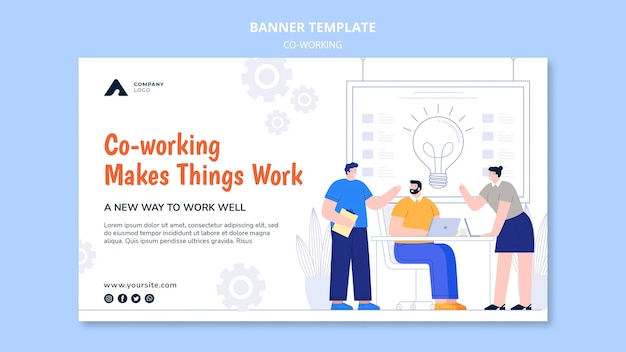 Working together horizontal banner