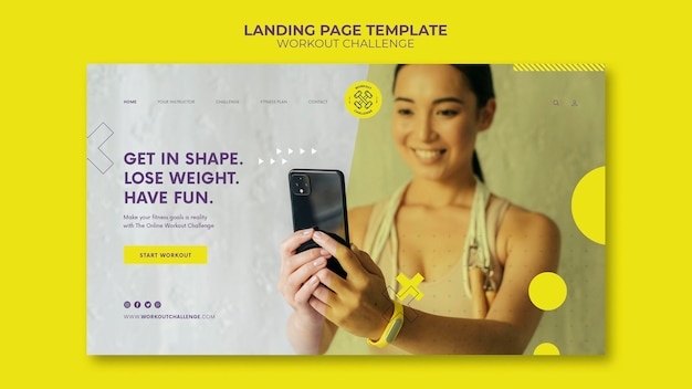 Workout challenge web template