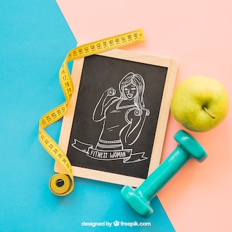 Workout mockup with slate