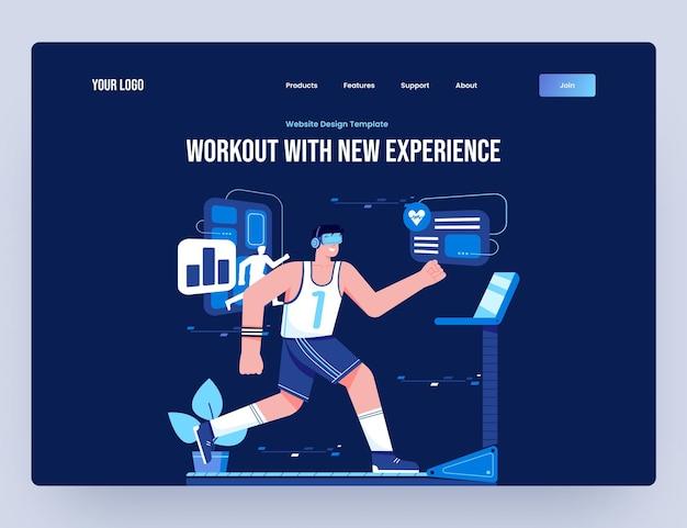 Тренировка с шаблоном веб-сайта виртуальной реальности