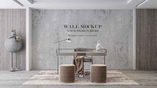 Workroom wall mockup for your textures