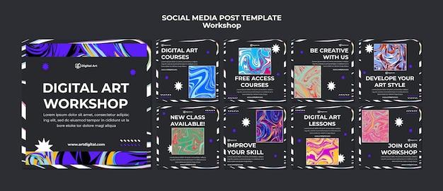 워크샵 소셜 미디어 게시물