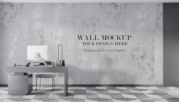 Workspace wall mockup design